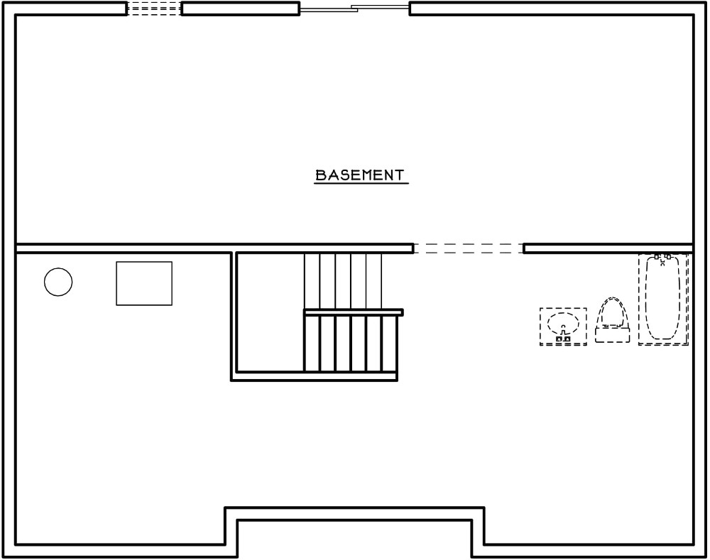 Hemlock Basement Blueprint